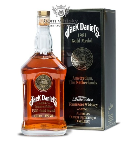 Jack Daniel's Gold Medal 1981, Amsterdam /Bez opak/ 43% / 1,0l