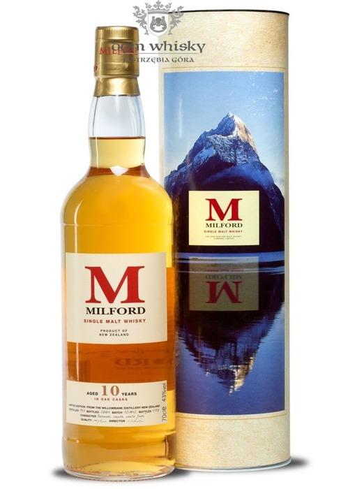 Milford Malt 10 letni D.1993 B.2004 (Nowa Zelandia) / 43% / 0,7l